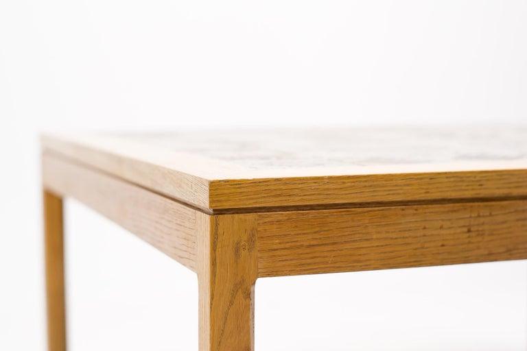 Scandinavian Modern Ceramic Top Coffee Table by Erik Wørts and Tue Poulsen For Sale