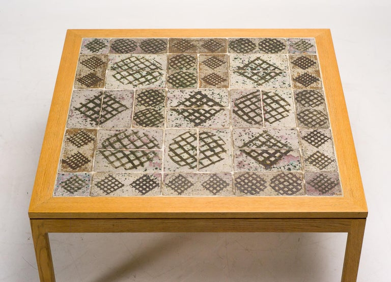 Ceramic Top Coffee Table by Erik Wørts and Tue Poulsen In Excellent Condition For Sale In Dronten, NL