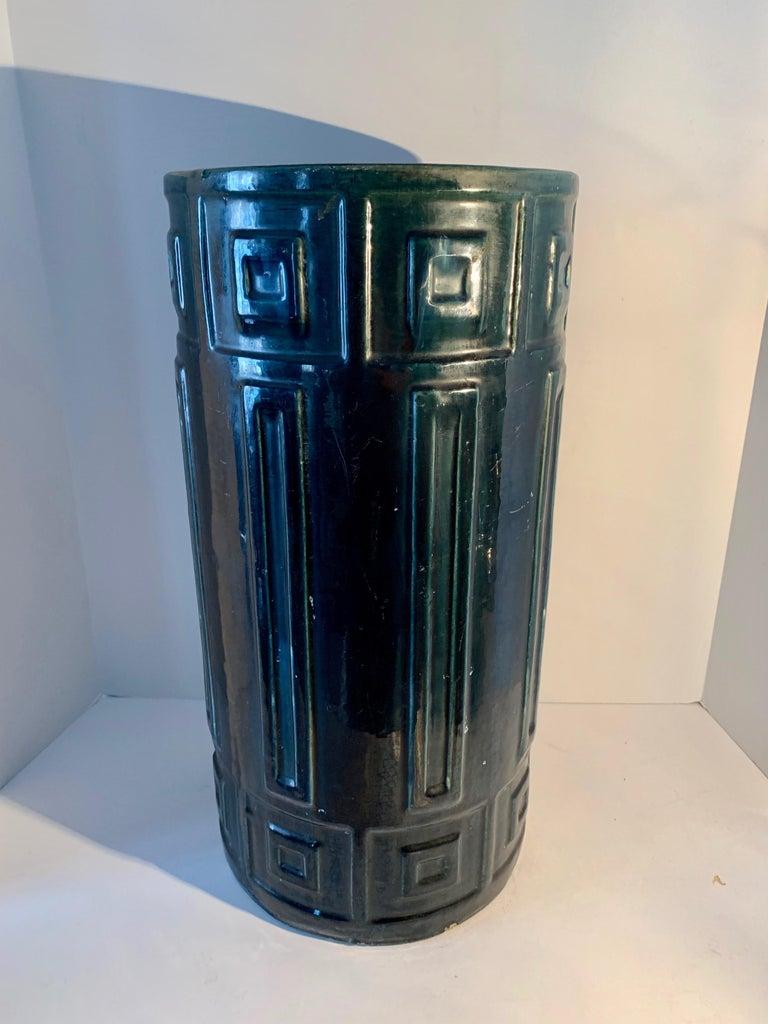 Ceramic Umbrella Stand In Good Condition For Sale In Los Angeles, CA