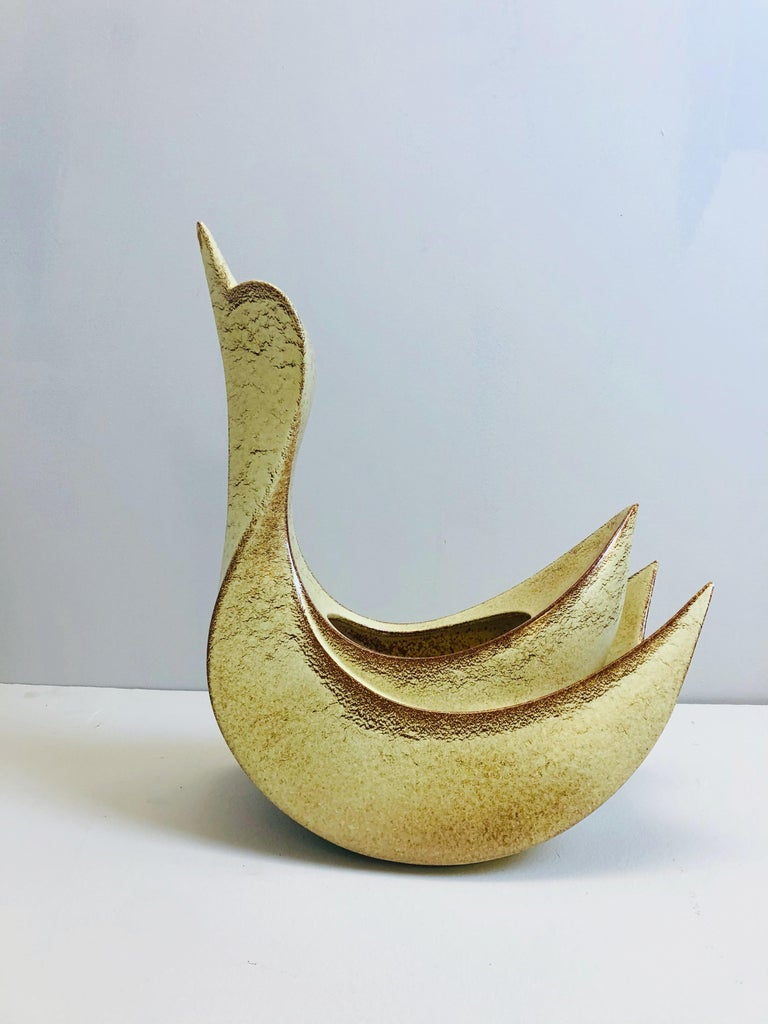 Mid-Century Modern Ceramic Vase by Bertoncello, Italy, 1950s For Sale