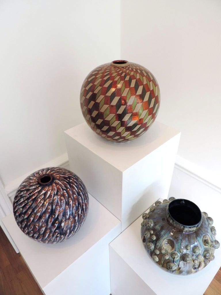 Ceramic vase by Bottega Vignoli Hand Painted Glazed Earthenware Italian  For Sale 3
