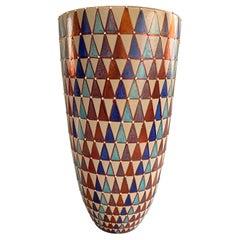 Ceramic Vase by Bottega Vignoli Hand Painted Italian Majolica Contemporary