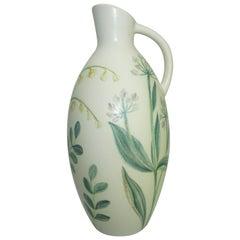 Ceramic Vase by Carl-Harry Stalhane, Sweden, C 1950, Floral Pattern