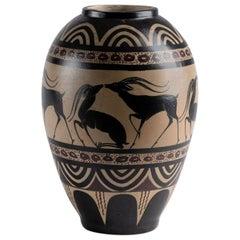 Ceramic Vase by Etienne Vilotte for Ciboure Pottery, France, circa 1945