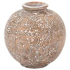 Ceramic Vase by Félix Gete for CAB, France, c. 1930's