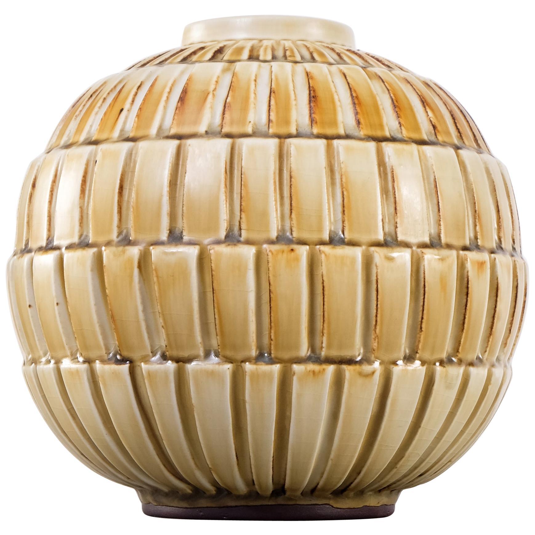 Ceramic Vase by Gertrud Lönegren, Rörstrand, 1930s