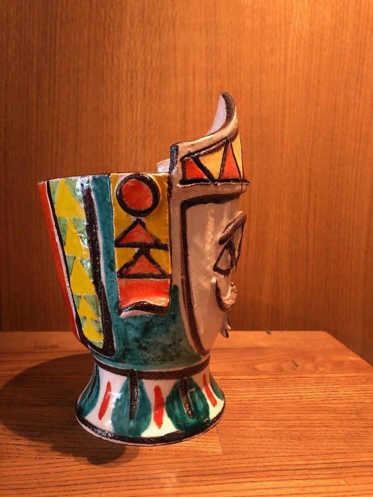 Italian Ceramic Vase by Giovanni De Simone For Sale