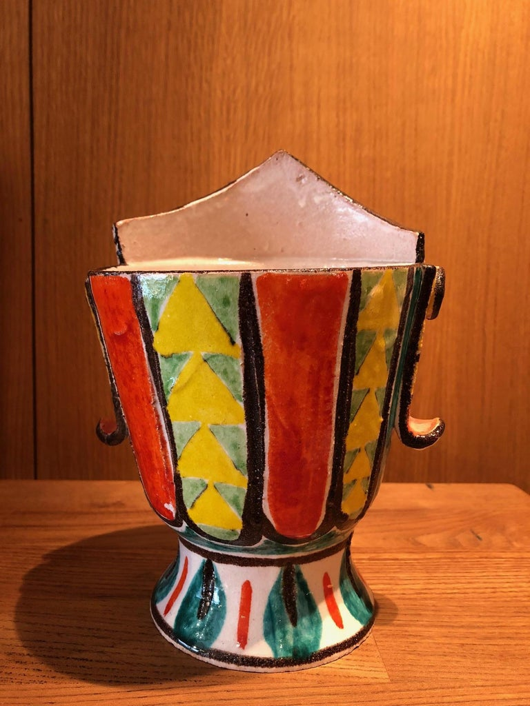 Ceramic Vase by Giovanni De Simone In Good Condition For Sale In Paris, FR
