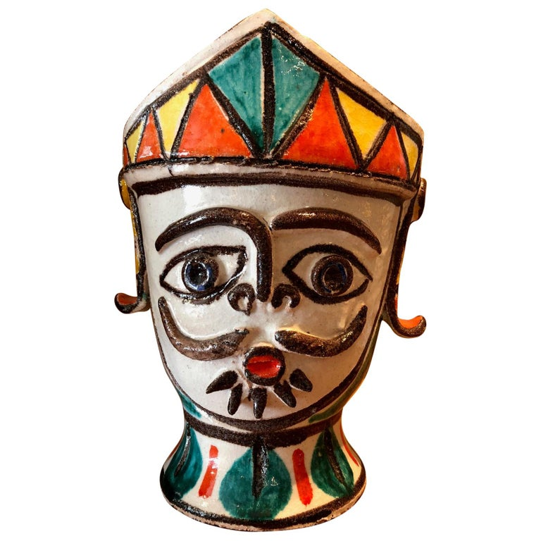 Ceramic Vase by Giovanni De Simone For Sale