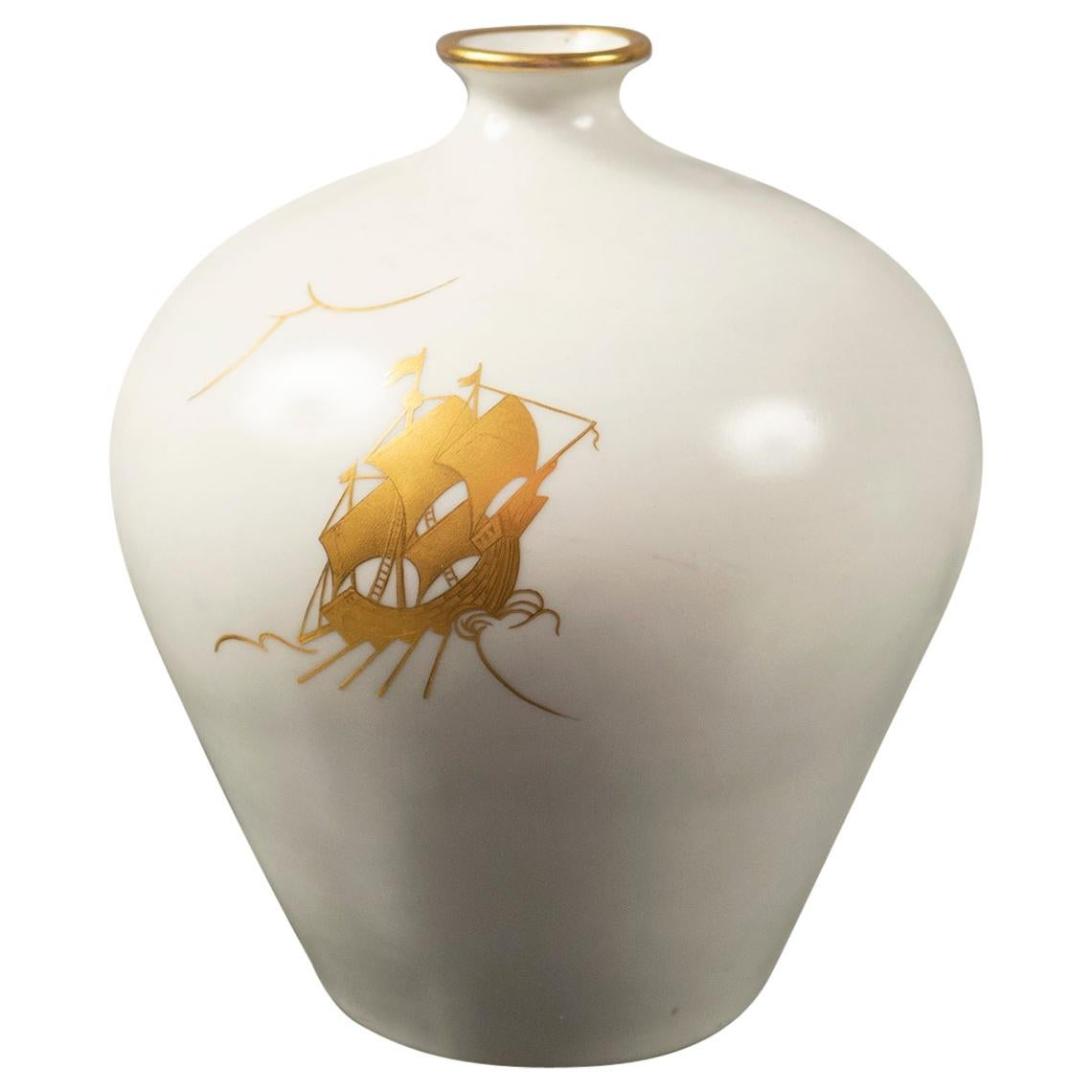 Ceramic Vase by Giovanni Gariboldi for Richard Ginori, Italy, 1940s