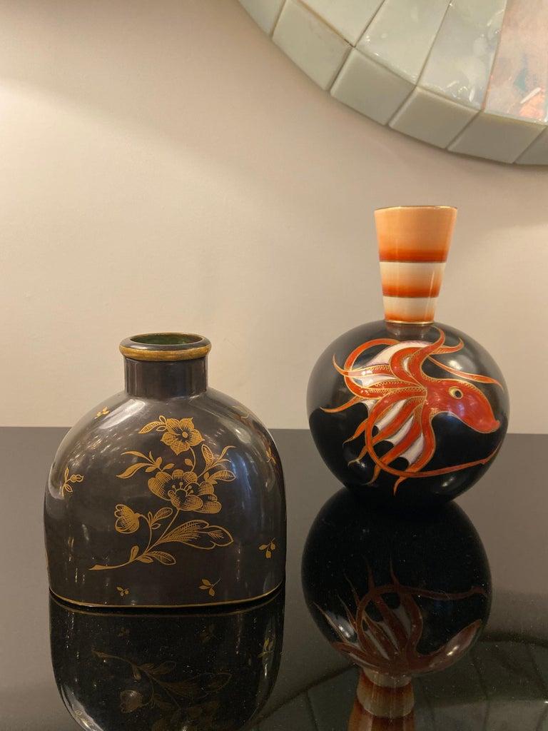 Gilt Ceramic Vase by Guido Andlovitz for Lavenia, Italy, 1930s For Sale