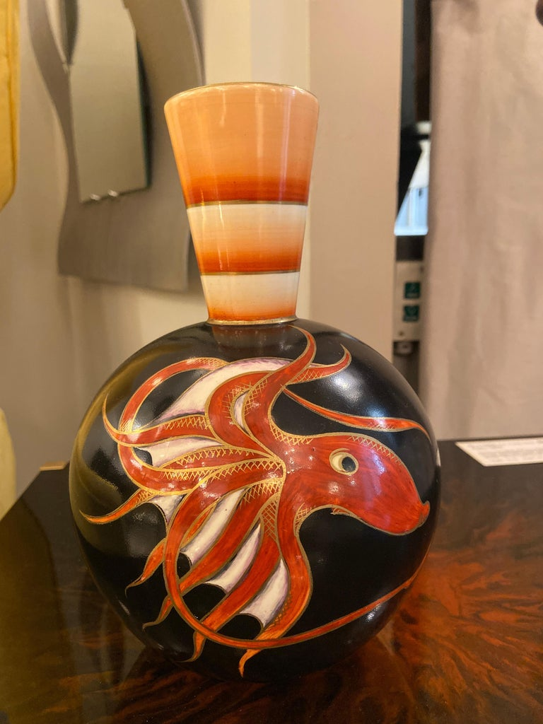 Ceramic Vase by Guido Andlovitz for Lavenia, Italy, 1930s In Good Condition For Sale In New York, NY