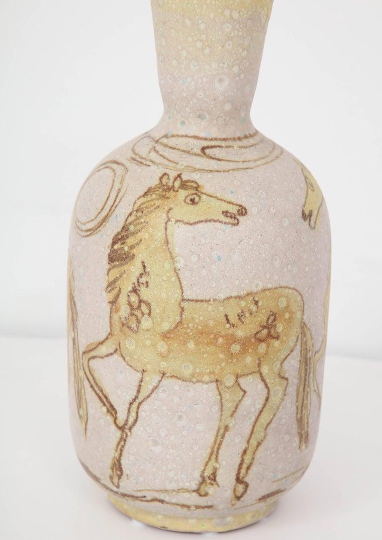 Mid-Century Modern Ceramic Vase by Guido Gambone, Italy, circa 1950 For Sale