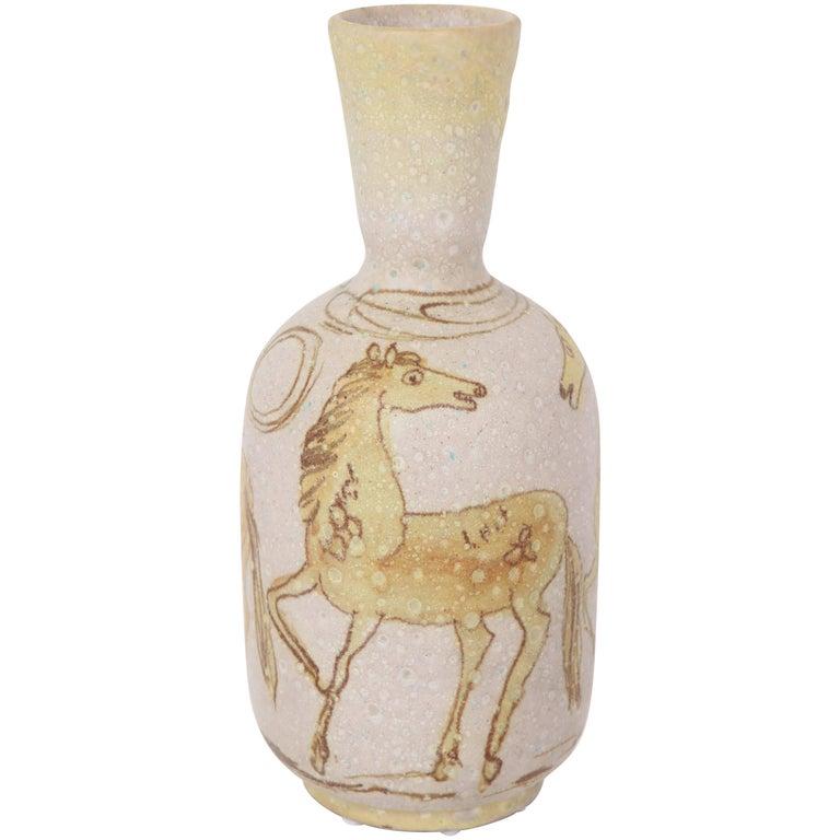 Ceramic Vase by Guido Gambone, Italy, circa 1950 For Sale