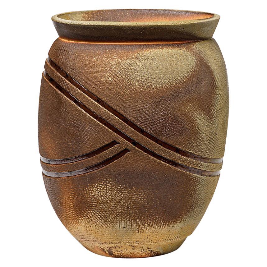 Ceramic Vase by Guieba, Signed, 1980-1990