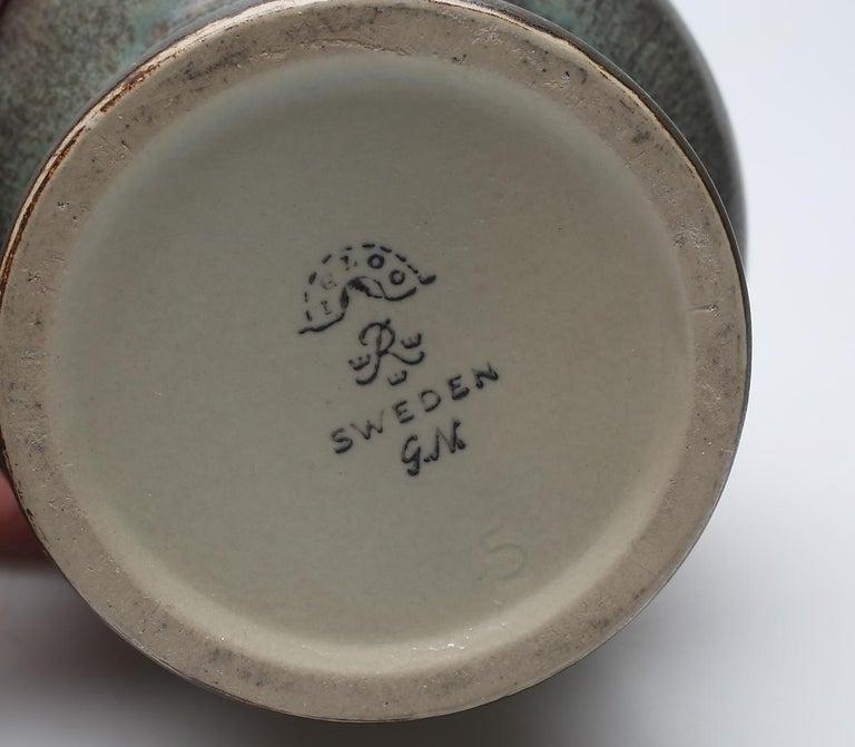 Mid-20th Century Ceramic Vase by Gunnar Nylund, Rörstrand, Sweden, 1950s For Sale