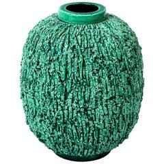 Ceramic Vase by Gunnar Nylund, Scandinavian Mid-Century, circa 1950, Green