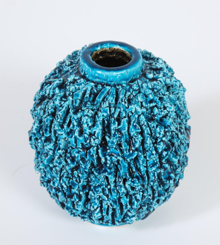 Decorative ceramic vase by Gunnar Nylund, Sweden, circa 1950. This is the smaller vase of a group called