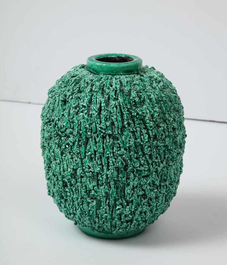 Hand-Crafted Ceramic vase by Gunnar Nylund, Sweden, circa 1950 For Sale
