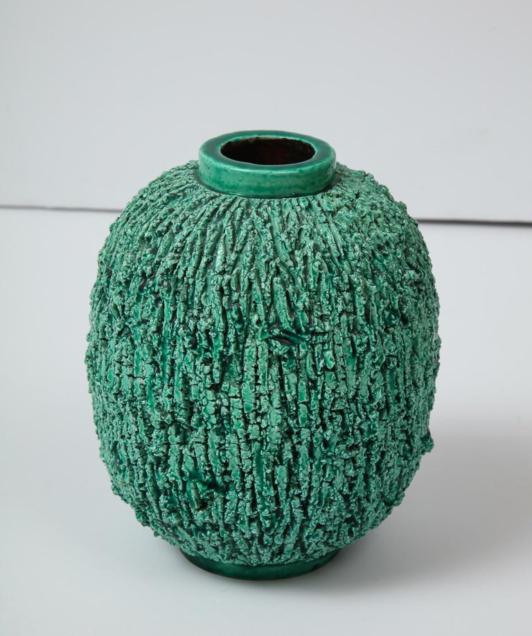 Ceramic Vase by Gunnar Nylund, Sweden, circa 1950 In Good Condition For Sale In New York, NY