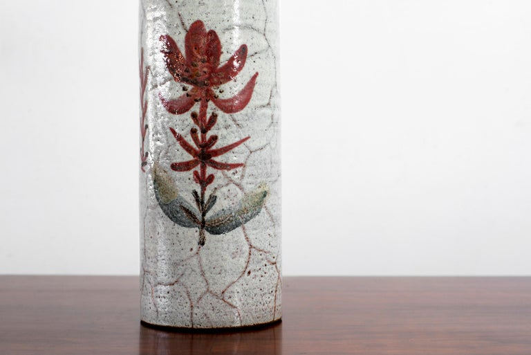 French Ceramic Vase by Gustave Raynaud For Sale