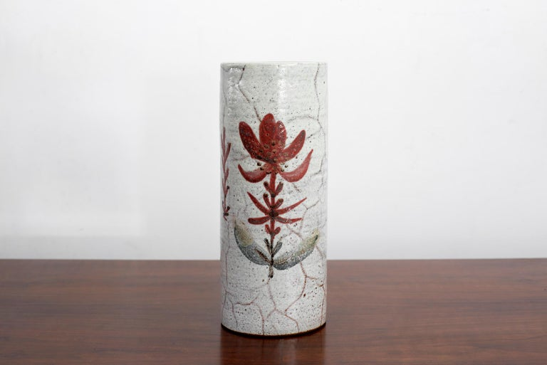 Mid-20th Century Ceramic Vase by Gustave Raynaud For Sale
