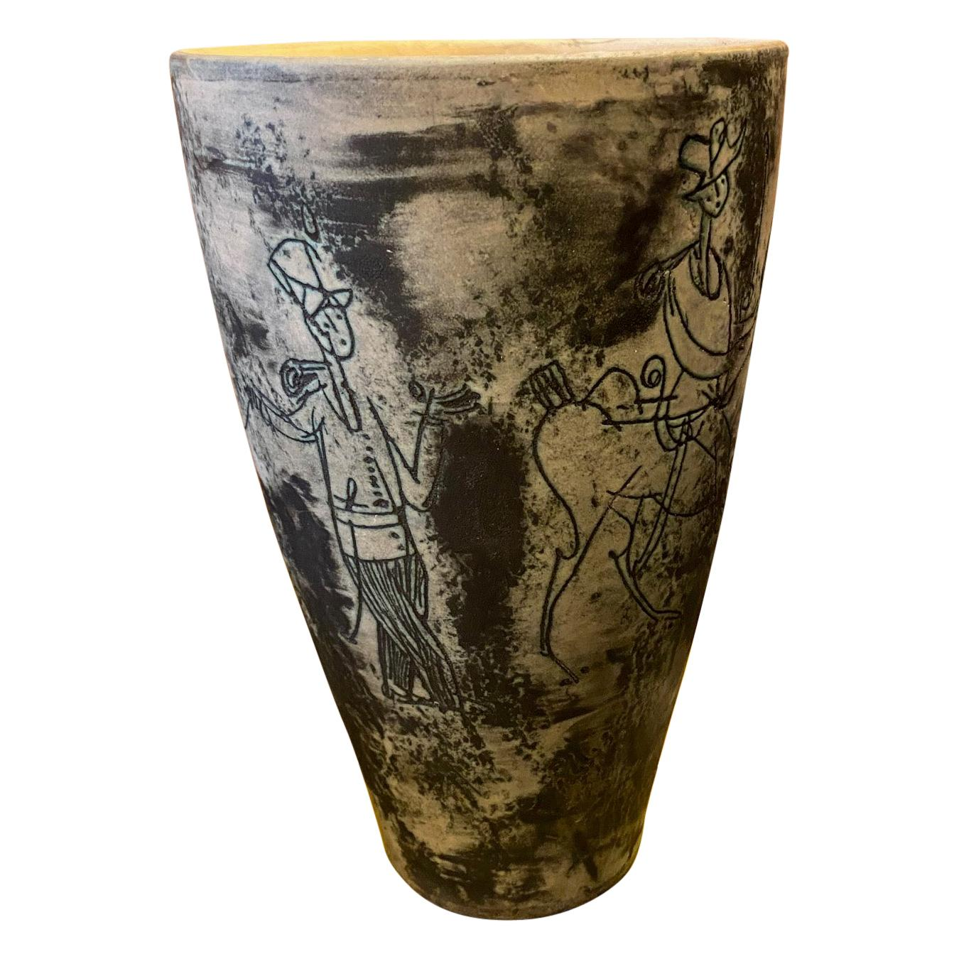 Ceramic Vase by Jacques Blin, France, 1960s