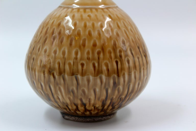 Ceramic Vase by John Andersson, Höganäs Keramik, 1950s In Good Condition For Sale In Malmo, SE