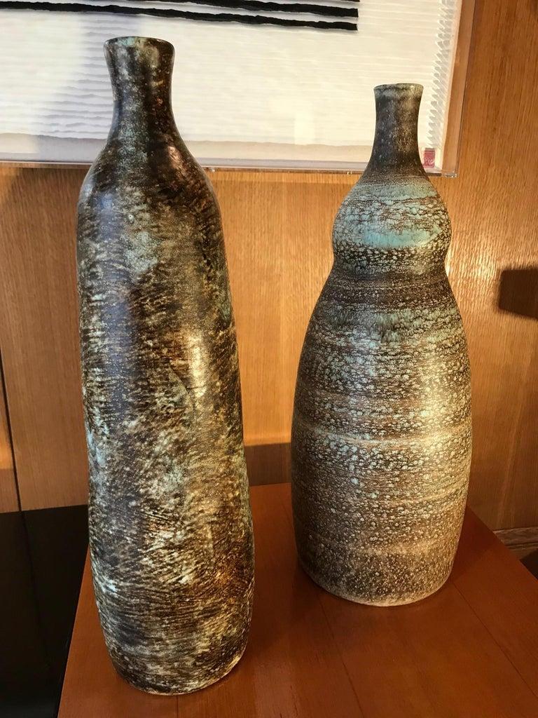 Ceramic Vase by Les 2 Potiers For Sale 2