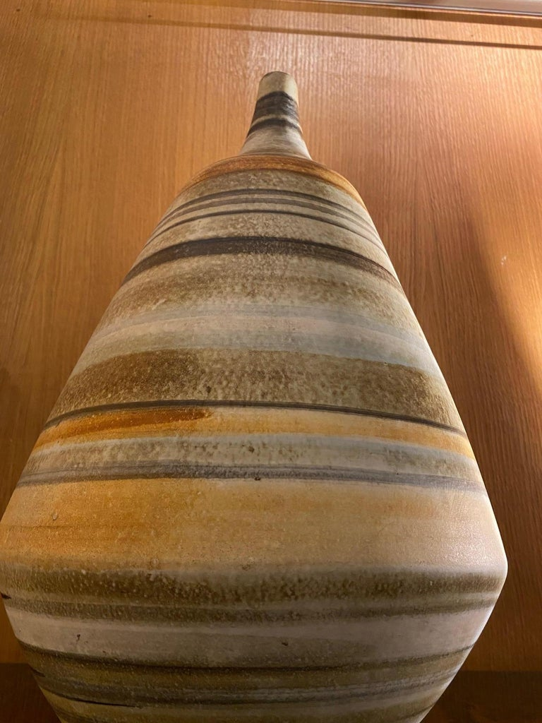 Ceramic Vase by Les 2 Potiers, France, 1960s For Sale 1