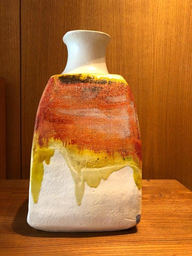 Italian Ceramic Vase by Marcello Fantoni For Sale