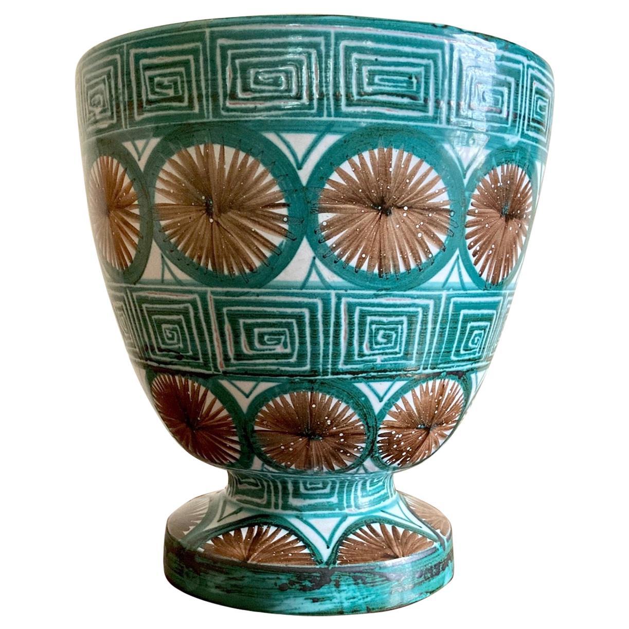 Ceramic Vase by Robert Picault, Vallauris, circa 1950