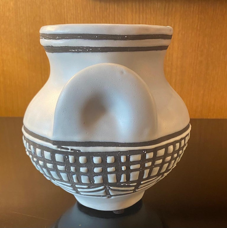 Ceramic vase by Roger Capron, Vallauris, France, 1950s Signed Capron Vallauris.