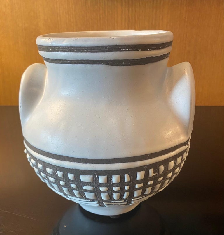 French Ceramic Vase by Roger Capron, Vallauris, France, 1950s For Sale