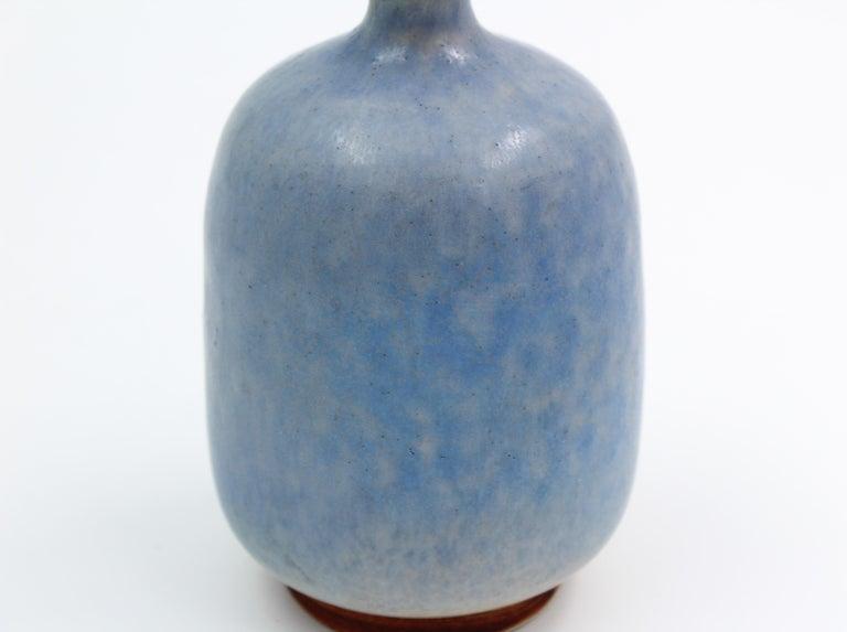 Scandinavian Modern Ceramic Vase by Sven Hansson for Hganås, 1971 For Sale