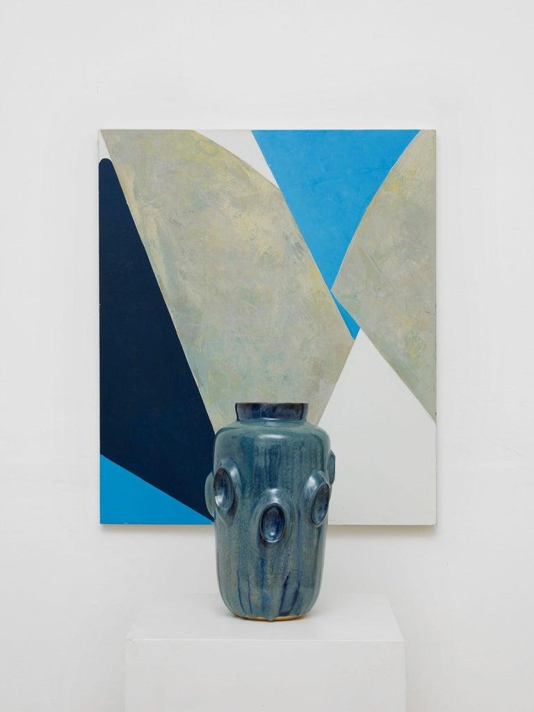 British Ceramic Vase by Violante Lodolo D'Oria Glazed Stoneware Contemporary For Sale