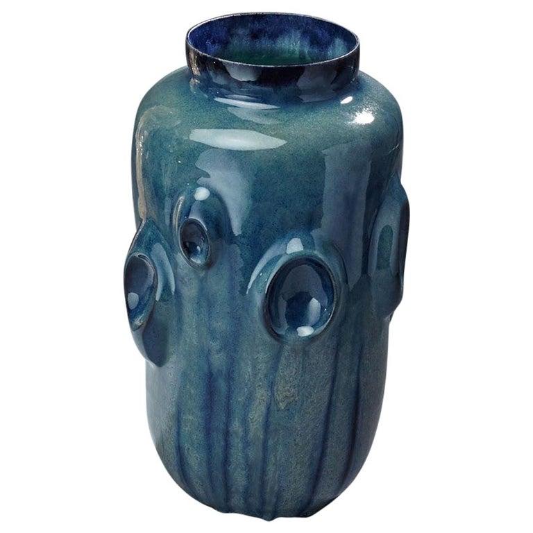Ceramic Vase by Violante Lodolo D'Oria Glazed Stoneware Contemporary For Sale