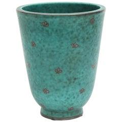 Ceramic Vase by William Kage, Sweden, circa 1930