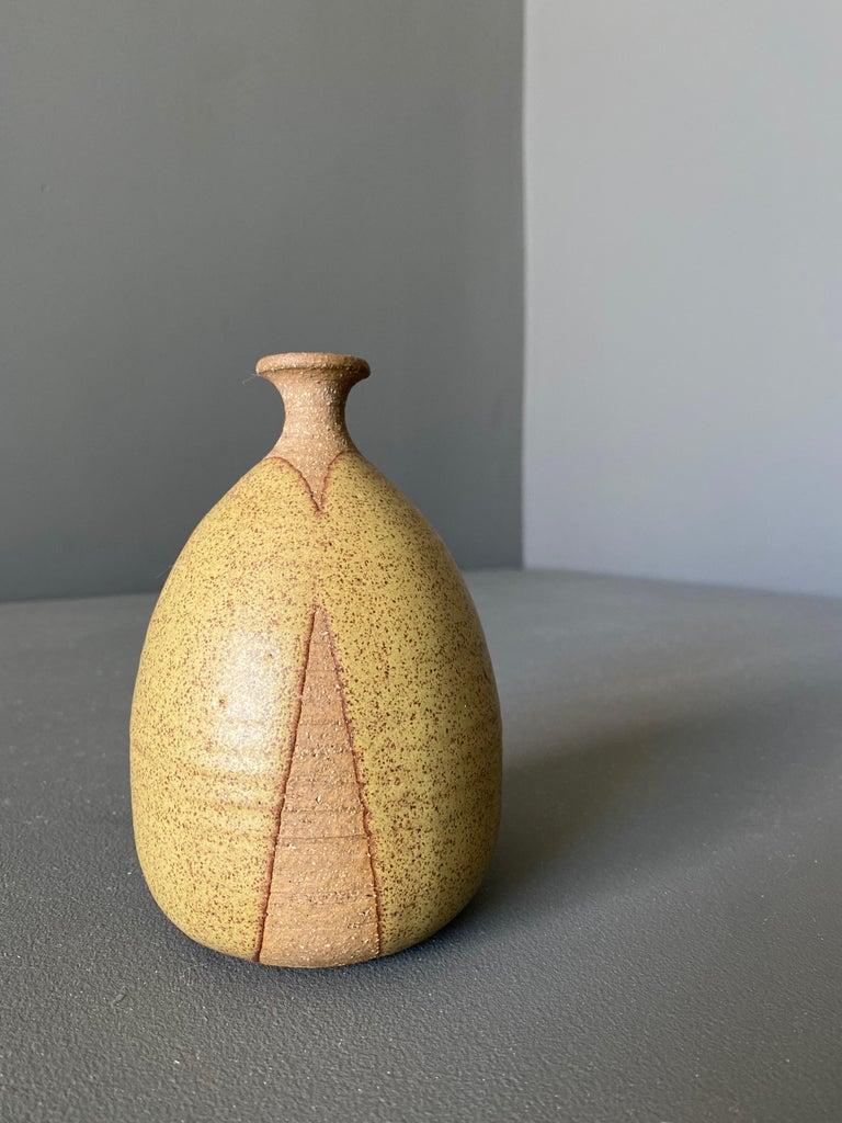 Spun Ceramic Vase by Wishon-Harrell For Sale