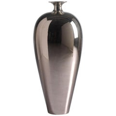 "Ceramic Vase ""DOLLY"" Handcrafted in Platinum by Gabriella B. Made in Italy"