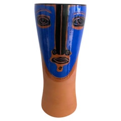 "Ceramic Vase Idole ""Hermanos"" Signed by Dalo"