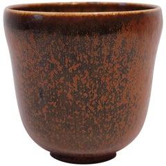 Ceramic Vase in Brown Colors, No 363 by Nathalie Krebs for Saxbo, 1920s-1930s