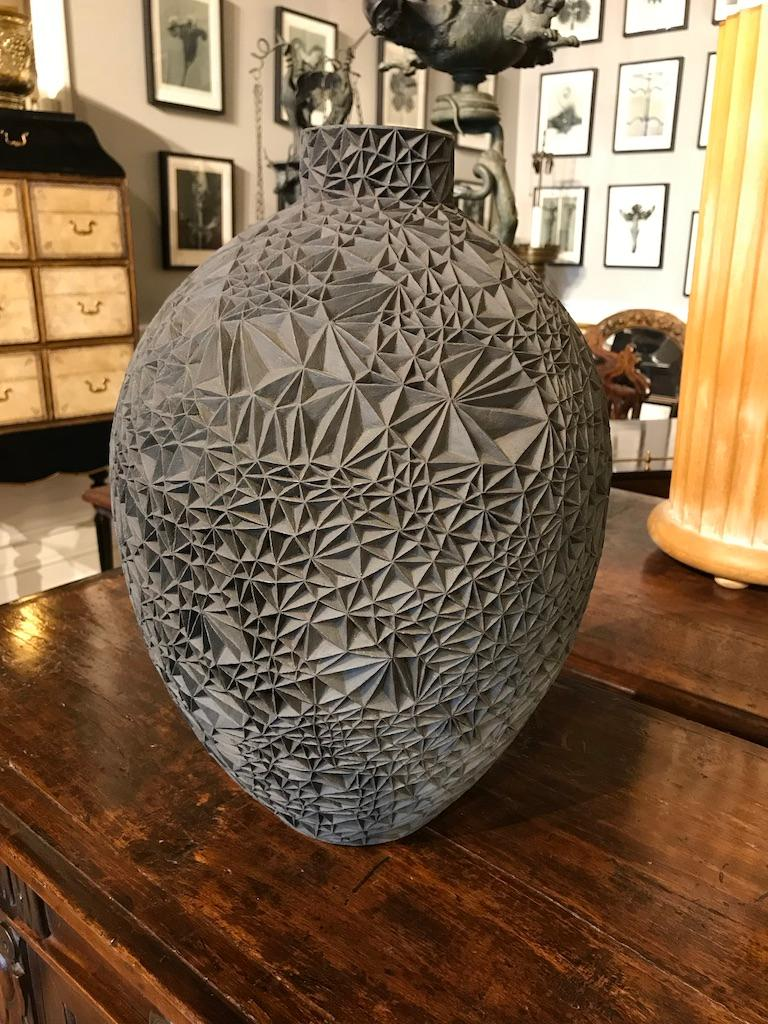 Ceramic Vase 'Primavera' by Leah Jensen In Excellent Condition For Sale In Stamford, CT
