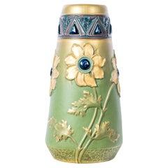 Ceramic Vase Signed Ernst Wahliss, Vienna, Art Nouveau Period, circa 1890