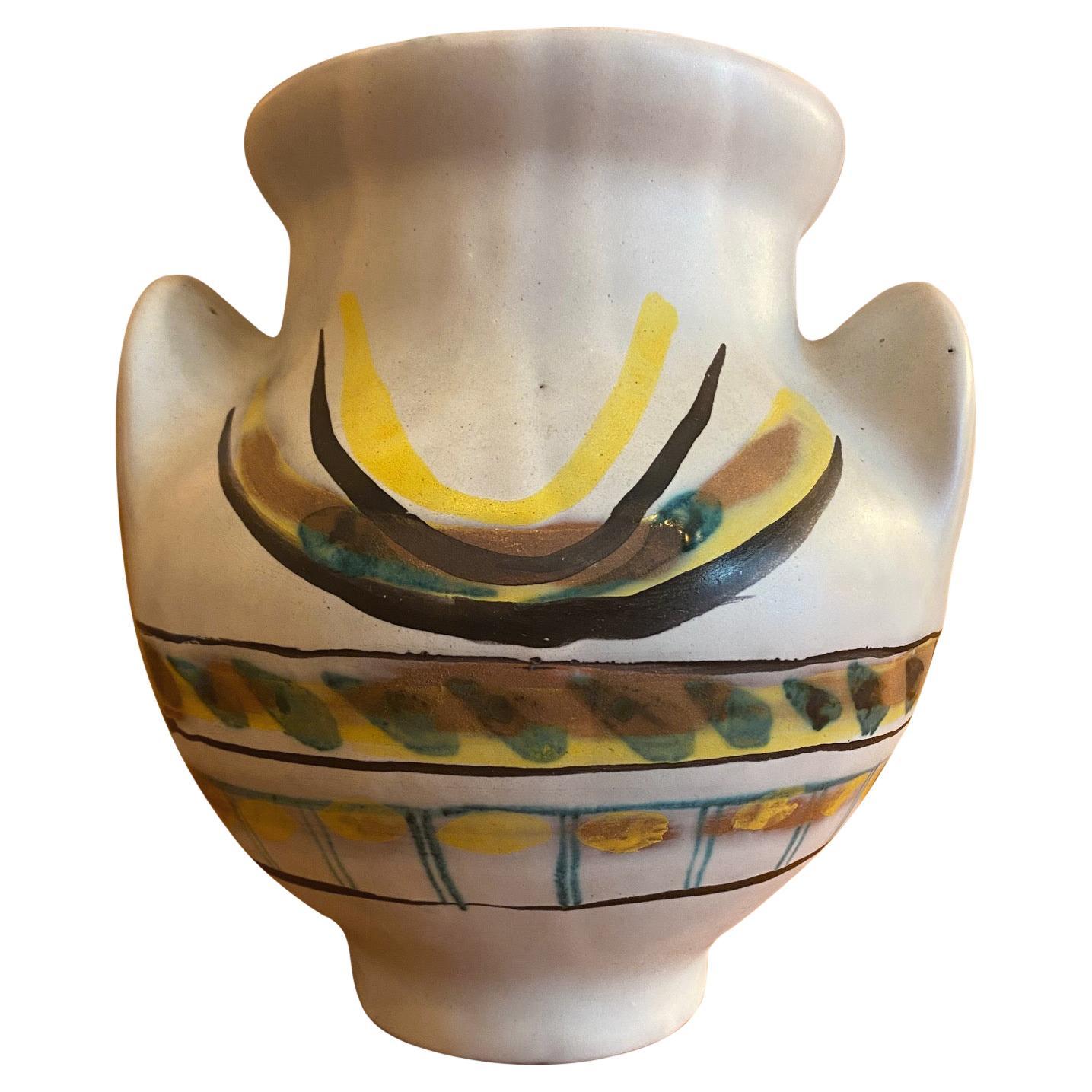 """Ceramic Vase """"Soleil"""" by Roger Capron, France, 1950s"""