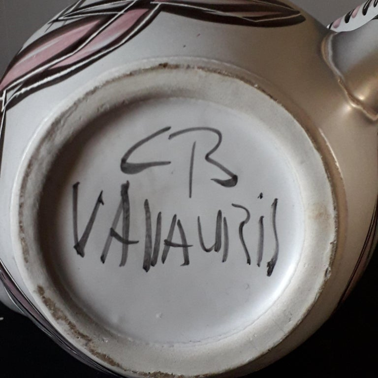 Ceramic Vase Vallauris France, 21st Century In Excellent Condition For Sale In Longueil, FR