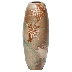 Ceramic Vase with Abstract Decoration, circa 1980-1990, by Sophie Combres