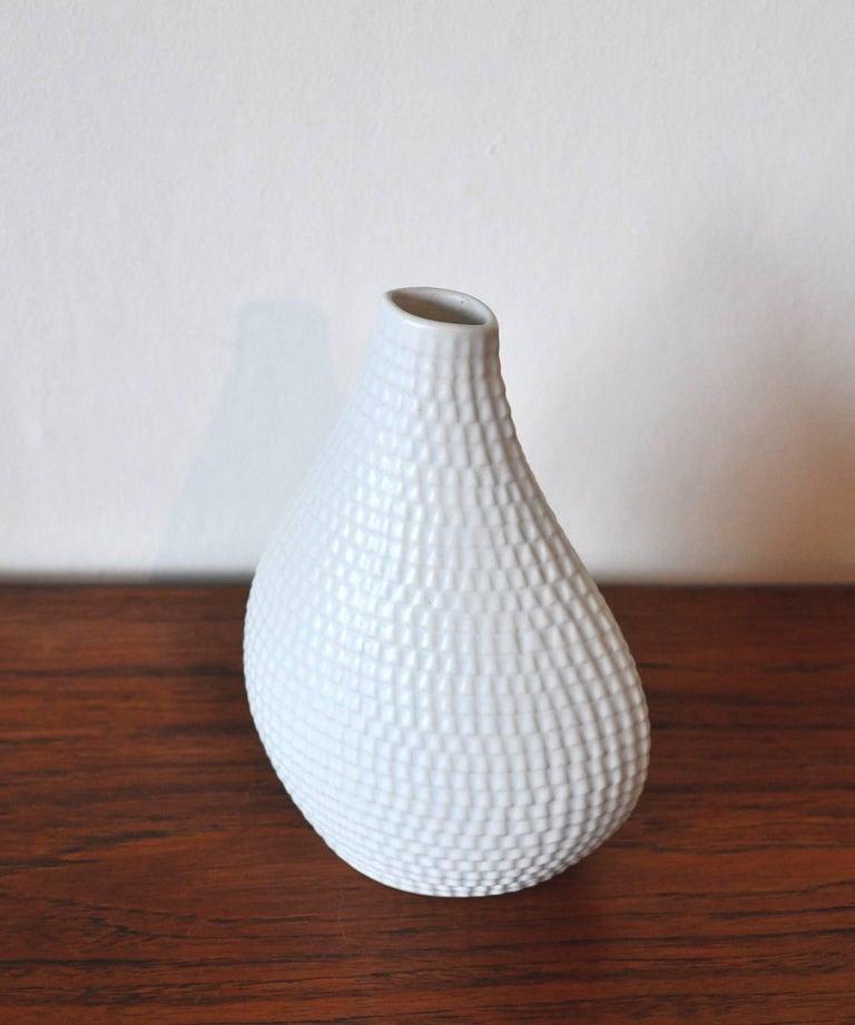 Mid-20th Century Ceramic Vases Model Reptil Designed by Stig Lindberg, Set of Two For Sale
