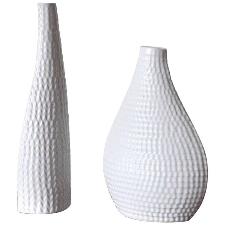 Ceramic Vases Model Reptil Designed by Stig Lindberg, Set of Two For Sale