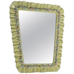 Ceramic Wall Mirror Attributed to Lenci